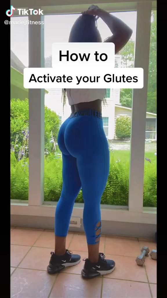 It's crucial to wake your glutes up before you tra