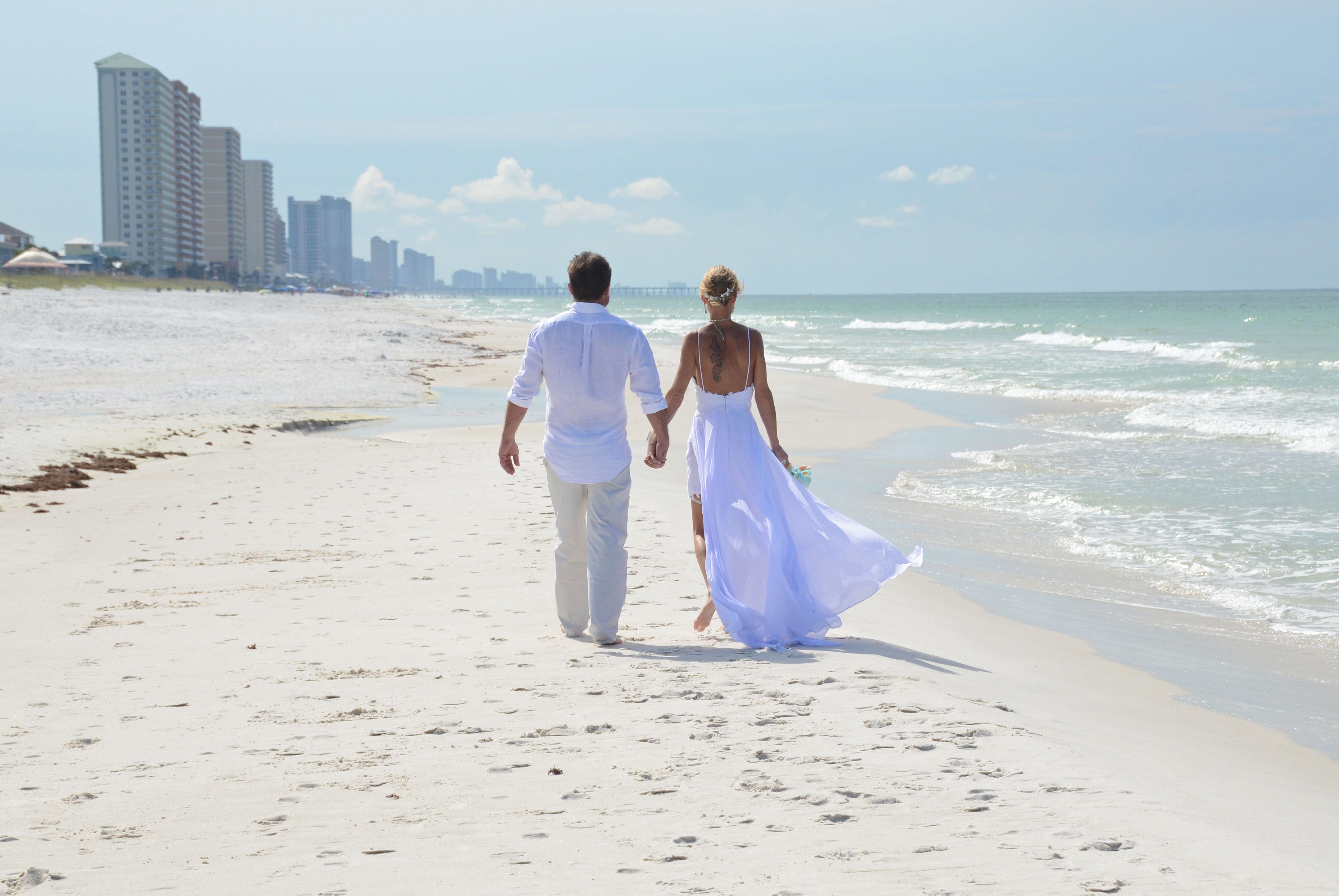Florida Beach Wedding Destin Florida Wedding Florida Beach Wedding Sunset Beach Weddings