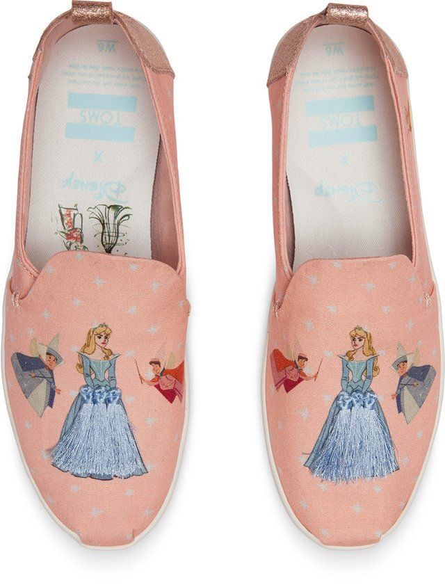 60cf2c718b2 The new TOMS x Disney collection features character sketches of Cinderella