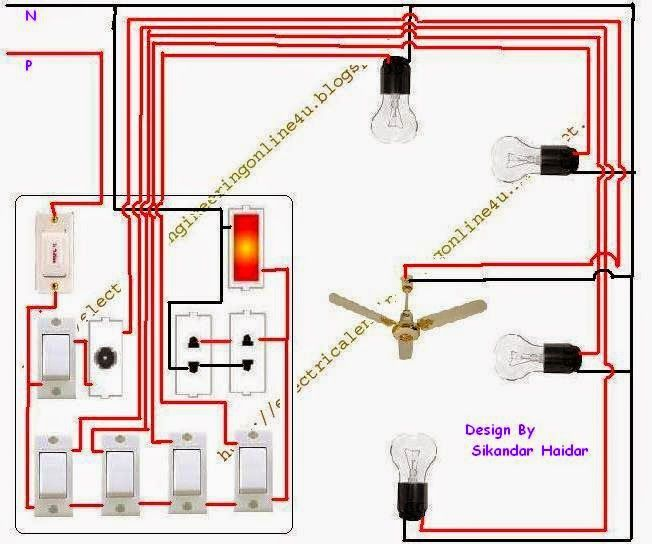 The Complete Method Of Wiring A Room With 2 Room Wiring Diagram House Wiring Home Electrical Wiring Electric House