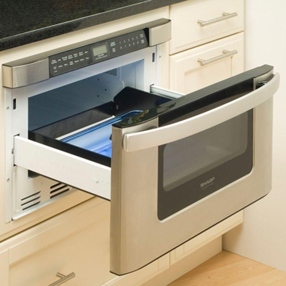 Built In Microwave Drawer Stainless Steel With Sensor Cooking Kb6525ps The Home Depot