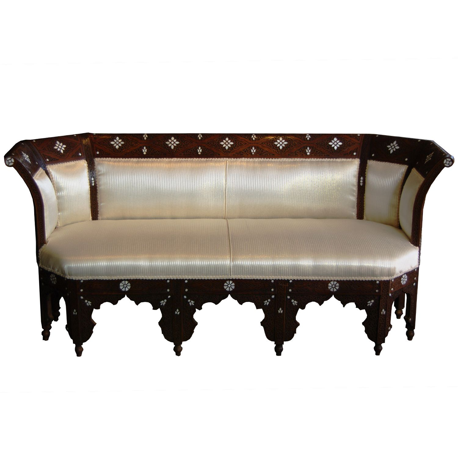 Style 1107 Syrian Moroccan Sofa Inlaid With Mother