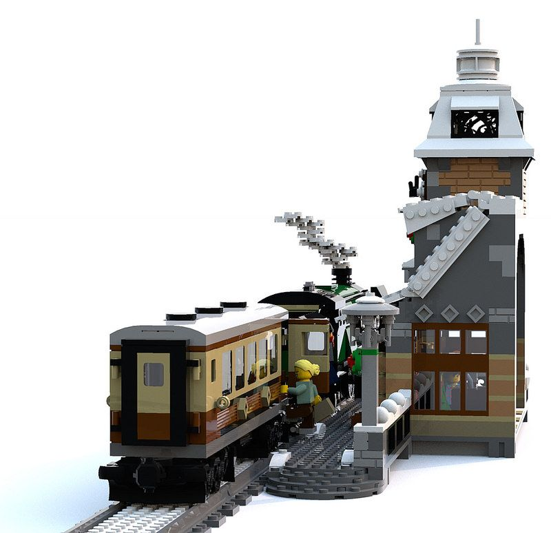 Winter Village Train Station | Lego - Gingerbread Houses | Lego