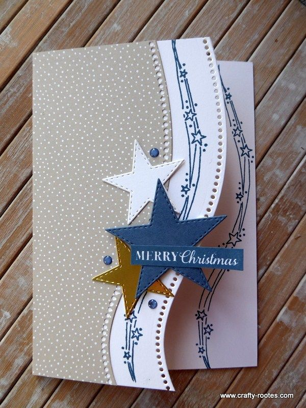 Curvy Stars Christmas card - Crafty-rootes