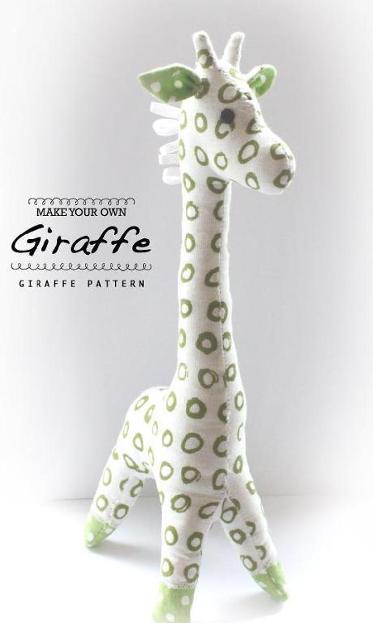 Giraffe Sewing Pattern -Easy Beginners | Craftsy | Sewing | Muñecas