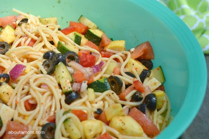 Spaghetti Salad -- always LOVED this, but insist on pepperoni in it! THAT makes it special!