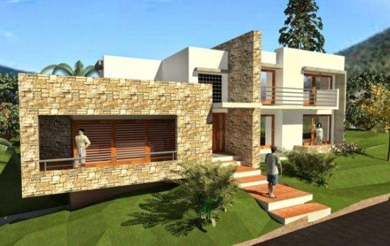 Hermosas fachadas de casas modernas y simples 20 for Fachadas viviendas modernas