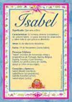 Isabel El Significado Del Nombre Isabel Tuparada Com Significados De Los Nombres Nombres De Niñas Tarjetas Con Nombres