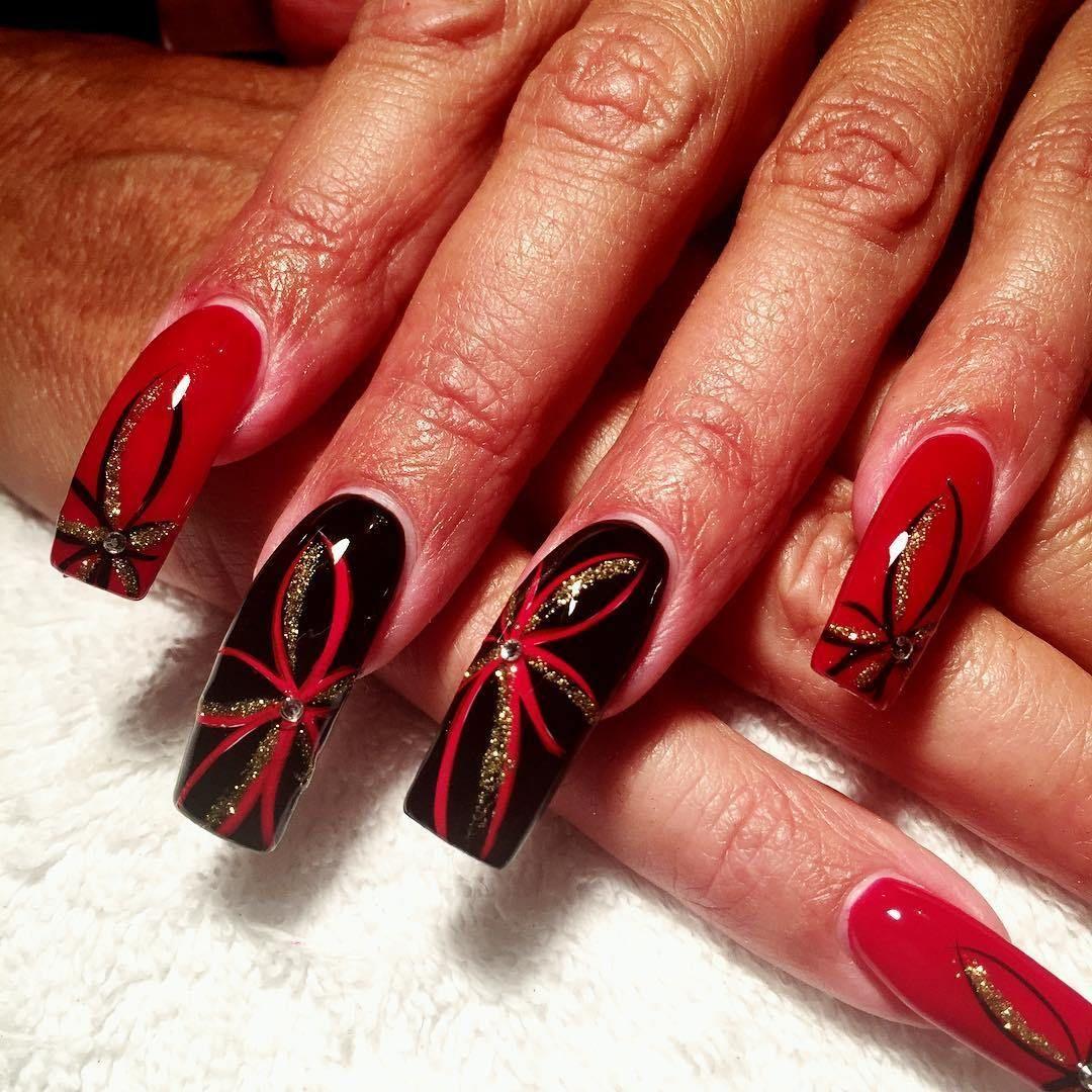 Top 25 Black And Red Nail Art Designs 2018 Red Nail Art Nail