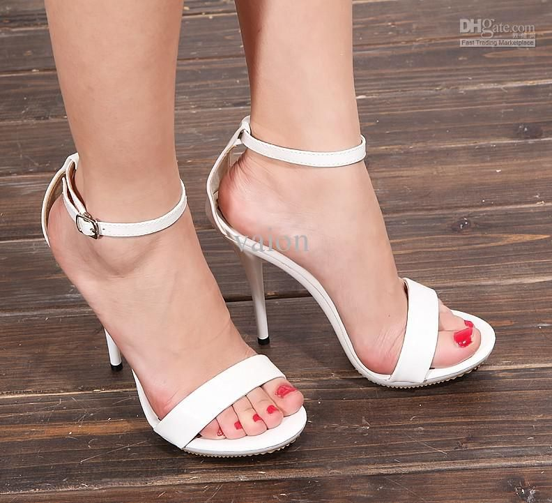 NEW Large EUR size :41 Fashion Sexy White Pointy high heels ...