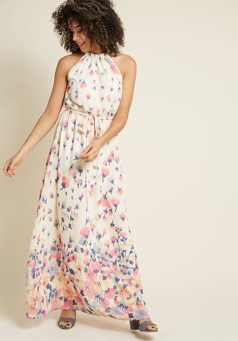 674ce5bef93 Illuminated Elegance Chiffon Maxi Dress in Ivory in XL - Sleeveless A-line  by ModCloth