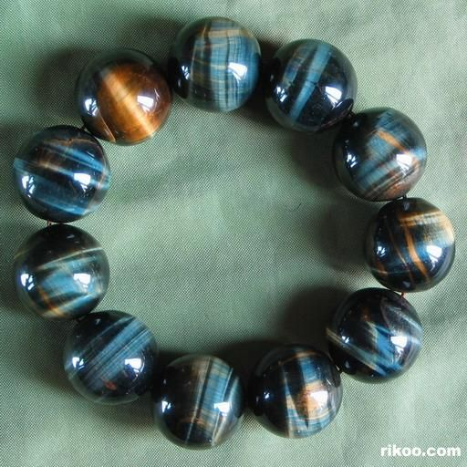 Blue & Gold Tiger Eye Crystal Bracelet
