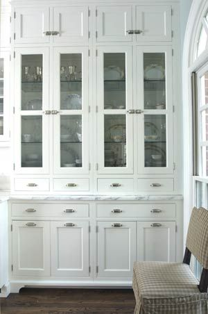 Built In Hutch With Gl Doors