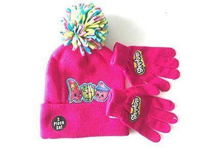 Shopkins Girls Shopkins Hat and Gloves Set