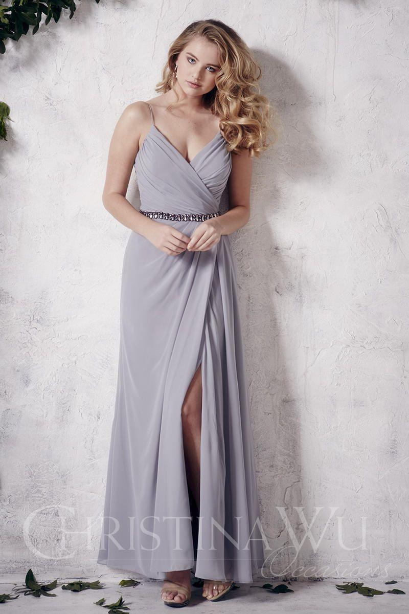 Christina wu occasions chiffon bridesmaid gown french
