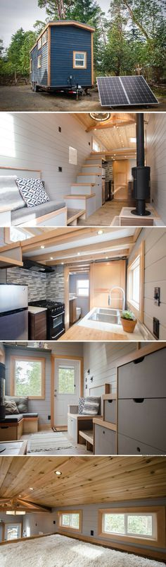 the blue heron tiny house 250 sq ft au ergew hnliche. Black Bedroom Furniture Sets. Home Design Ideas