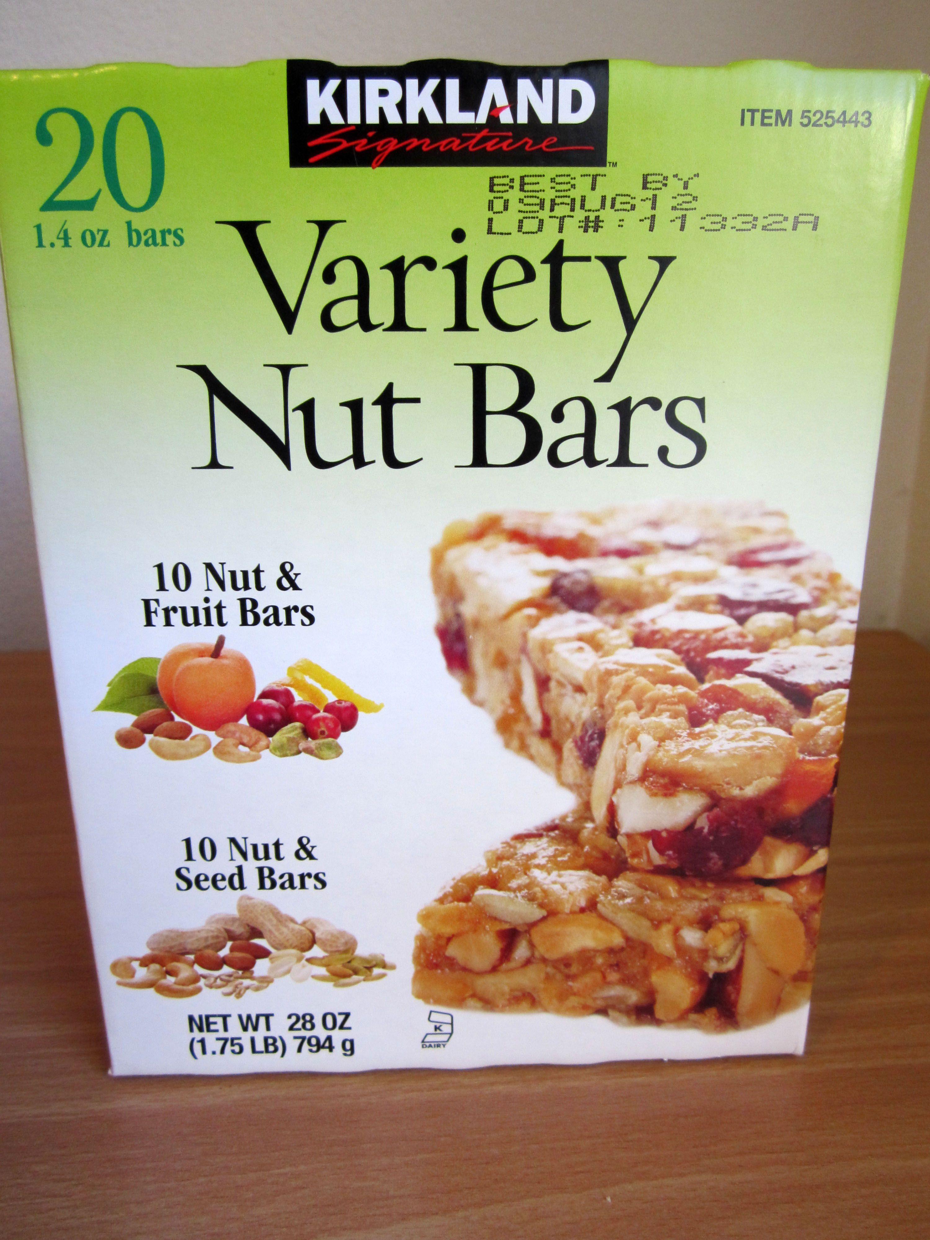 Kirkland Signature Variety Nut Bars Review Limechirp