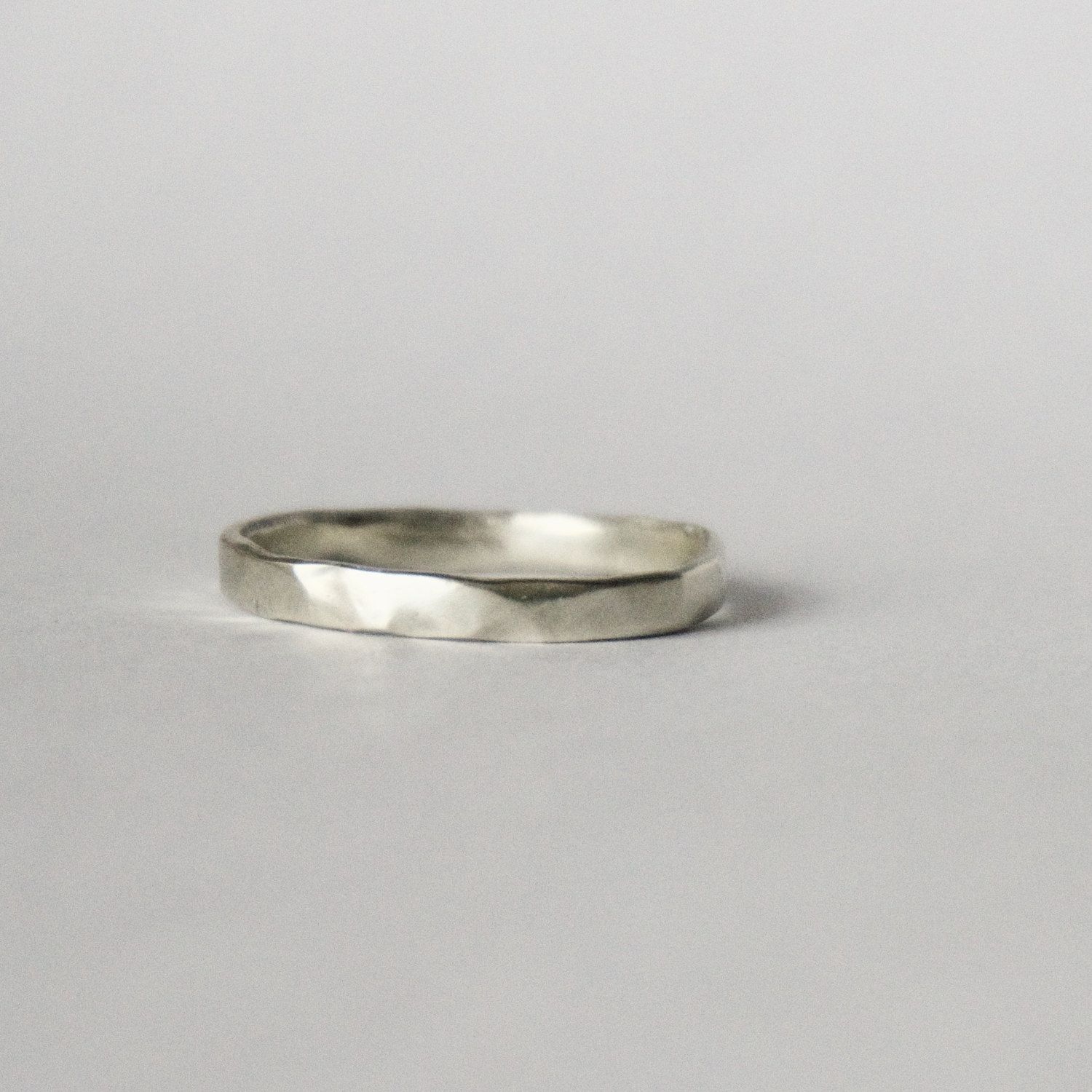 organic shape white gold ring wedding ring unique textured