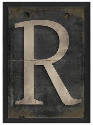 Letter R by Artwork Enclosed on Gilt Home