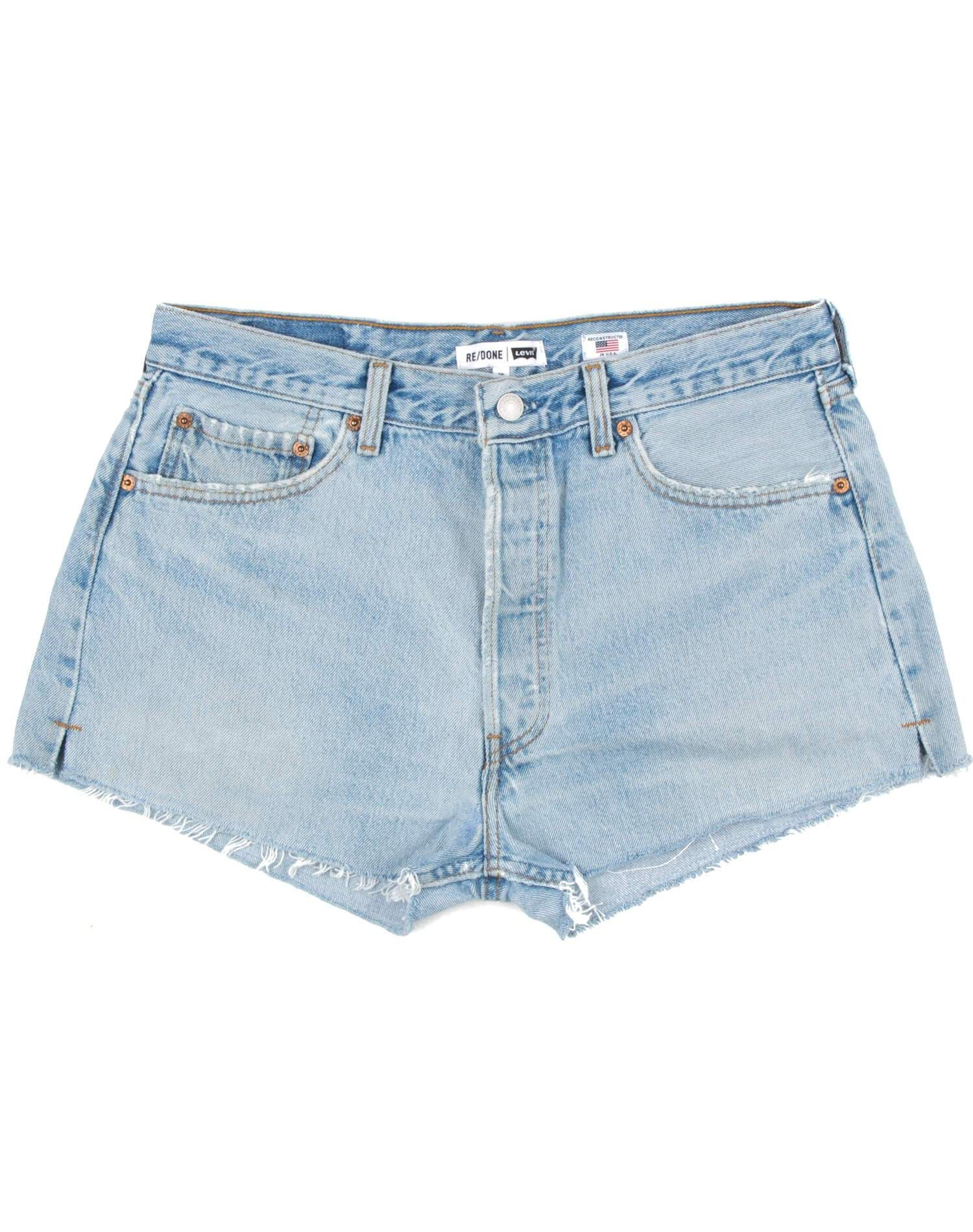 Vintage Levi's | The Shorts | Light Blue | Size 28 | No. 28TS1175394 | Denim #lightblueshorts