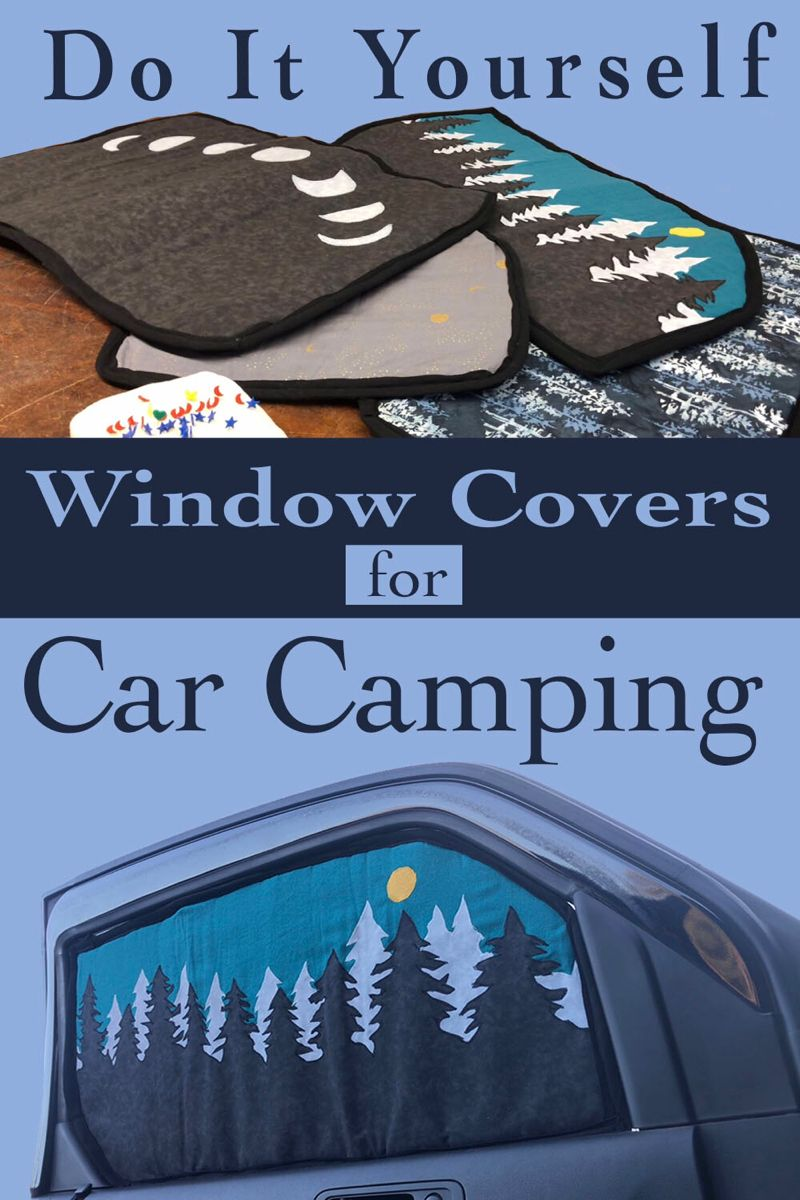 DIY Window Blackout Covers for Car Camping Honda Element