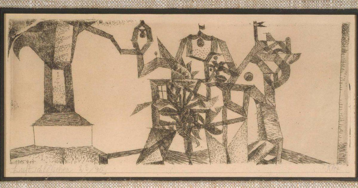 Paul Klee | Luftschlösschen (Little Castle in the Air) | 1915 | etching | 3 9/16 in. x 8 3/8 in. (9.05 cm x 21.27 cm)