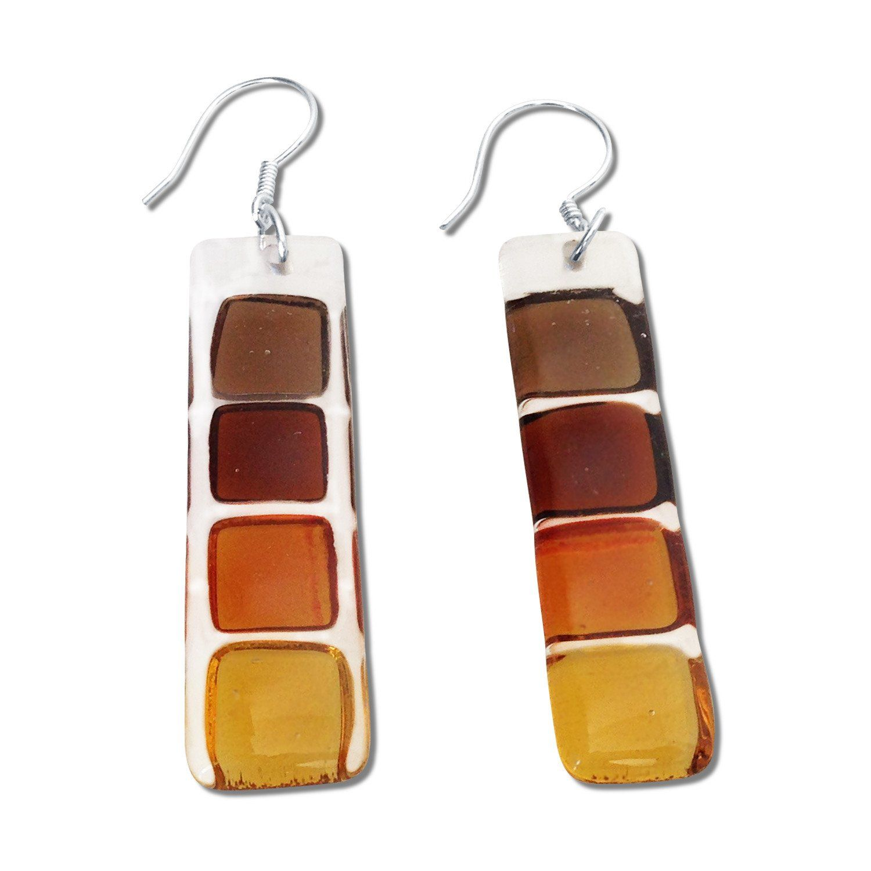 LMOL Glass Earrings - Red   Glass earrings, Earrings ...