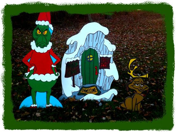 Grinch Grinch Lair And Max Yard Art Set By