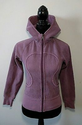 d6ca404be80 Lululemon Remix Scuba Hoodie Dark Purple Herringbone Size 2 Yoga Sweater  Jacket