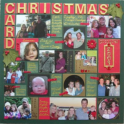 Christmas Card Layoutor could be enlarged to make a page - christmas card layout