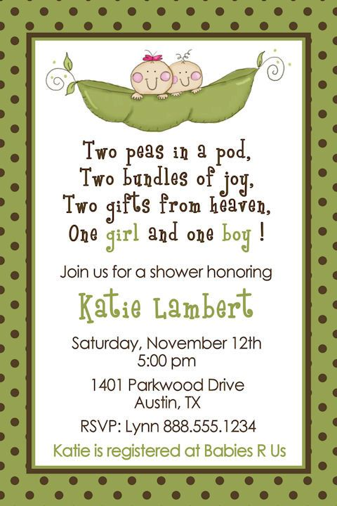 twins baby shower two peas in a pod  feeling crafty, Baby shower