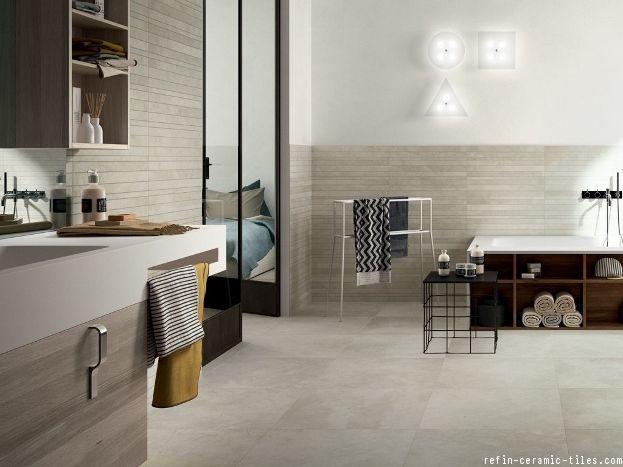 Bathroom Flooring Trends Oversized Tile