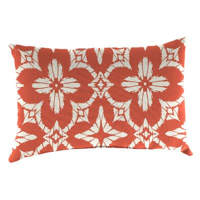 Bungalow Rose Mamora Outdoor Lumbar Pillow Color: Aspidoras Coral