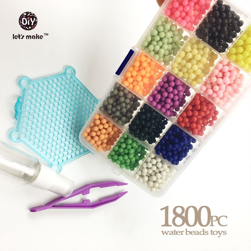 Toys Water Beads 24 Color Sticky Perler Beads Pegboard Set Fuse Beads Jigsaw