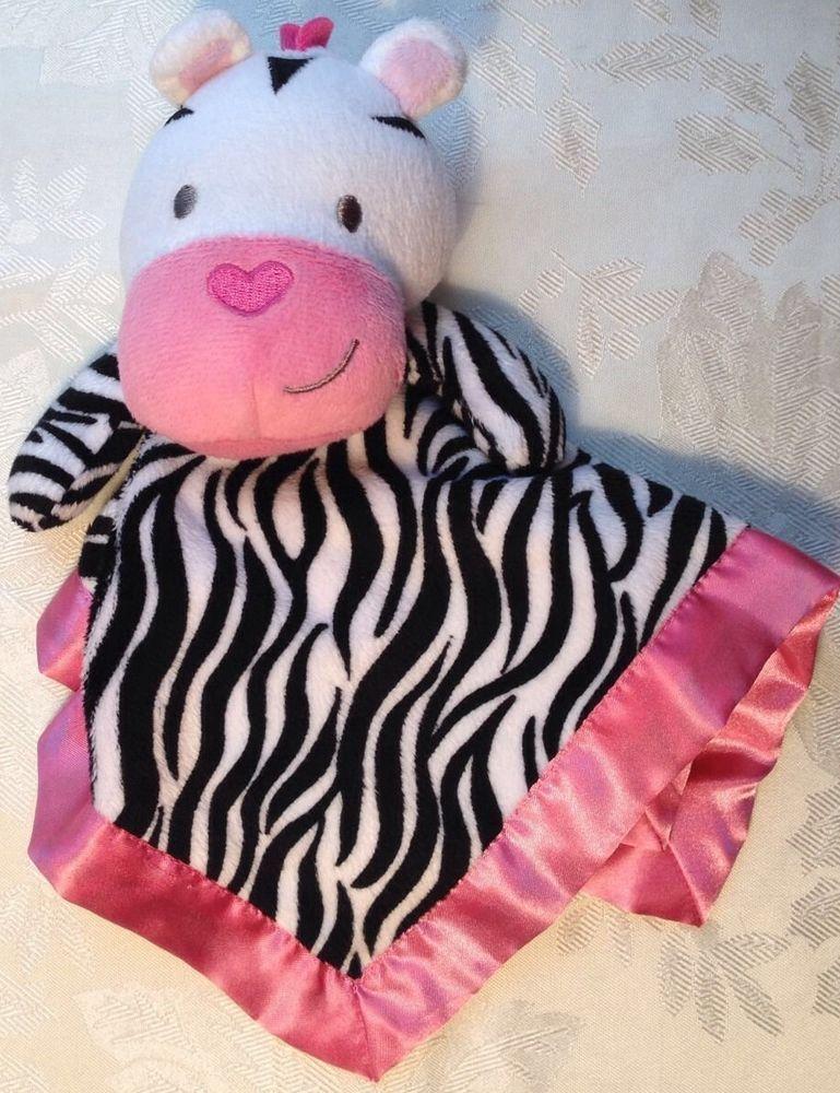 Lovey Garanimals Zebra Pink White Black Fleece Baby