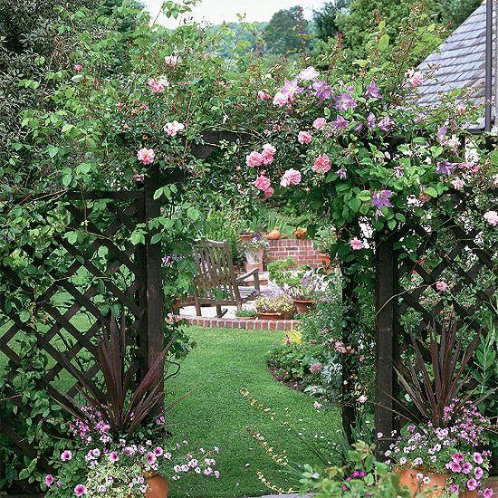 Vintage Rose Garden Garden Archway Country Garden Decor Garden Arches