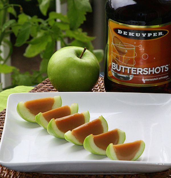 Caramel Apple Jello Shots - With Real Apples Source: thatssomichelle