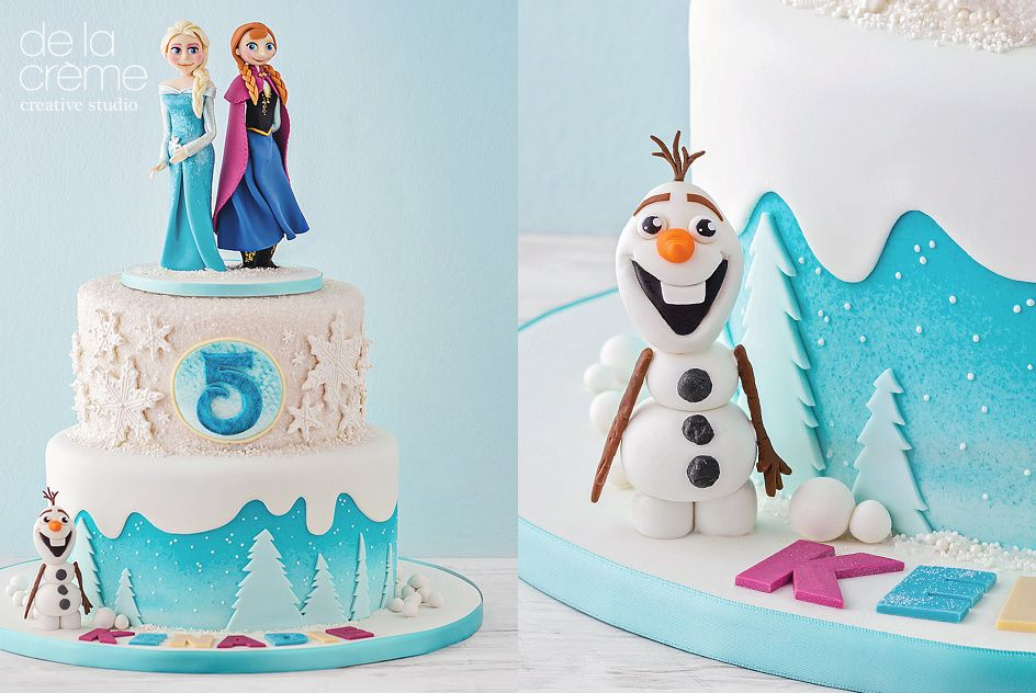 Disneys Frozen Cake Disney s Edible cake and Cake