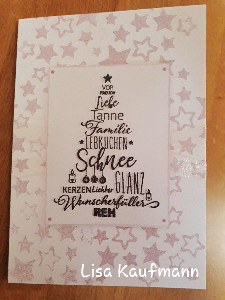 Vor Weihnachtswünsche.Weihnachtskarte Mit Designkarton Weiß Inkeffekt Rosé Anthrazit