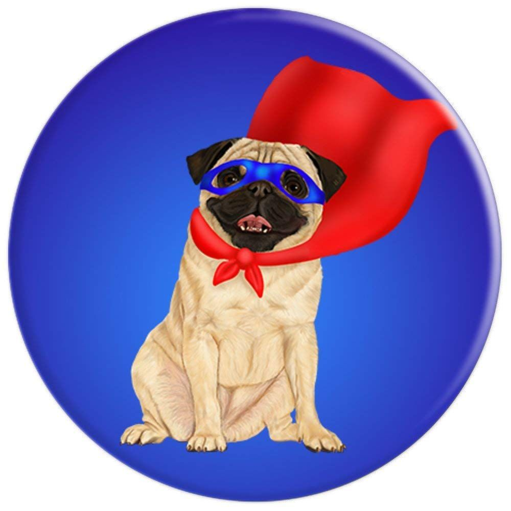cb63281a382 Super Hero Pug - Cute super dog in cape - PopSockets Grip and Stand for  Phones