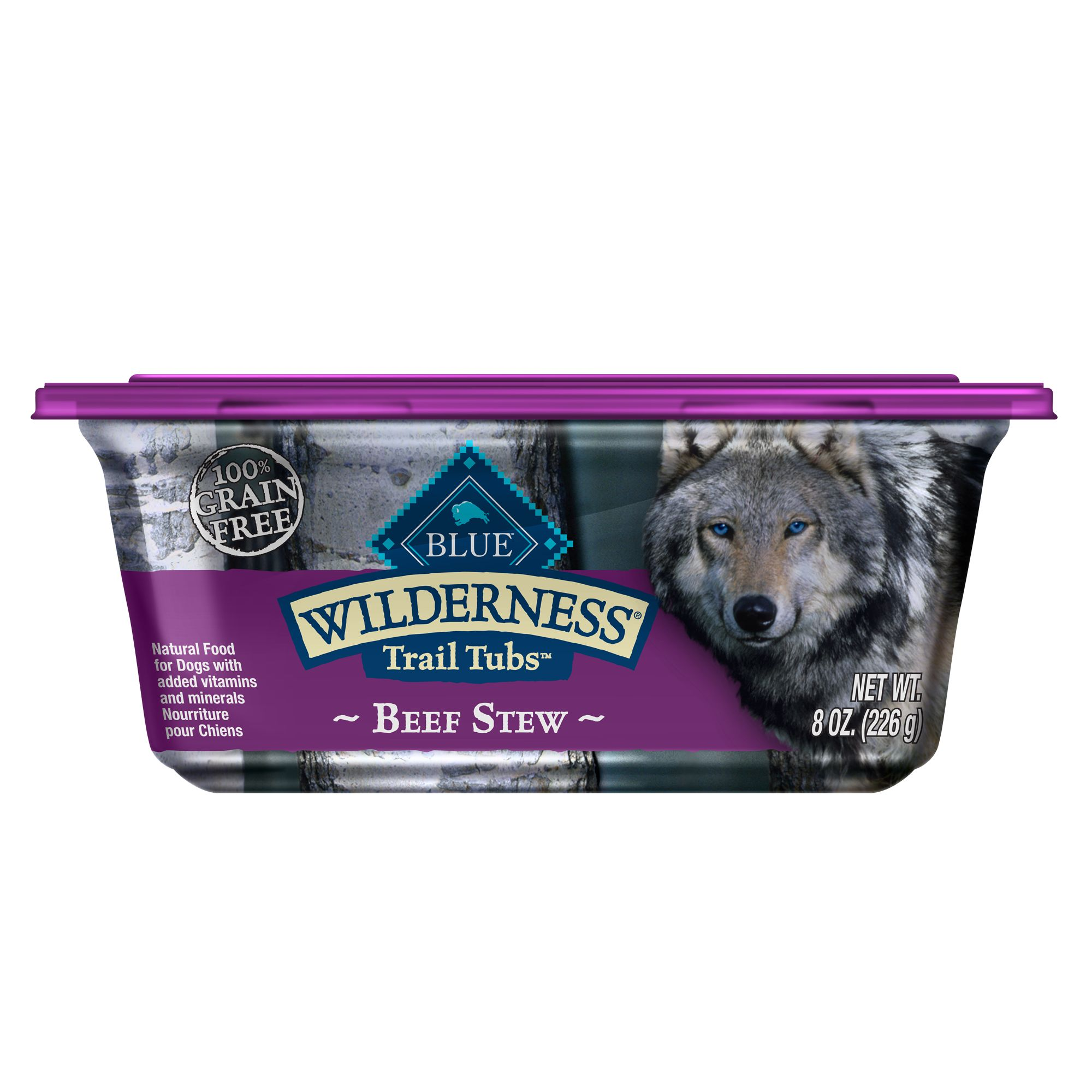 Blue Wilderness Trail Tubs Dog Food Natural Grain Free Beef