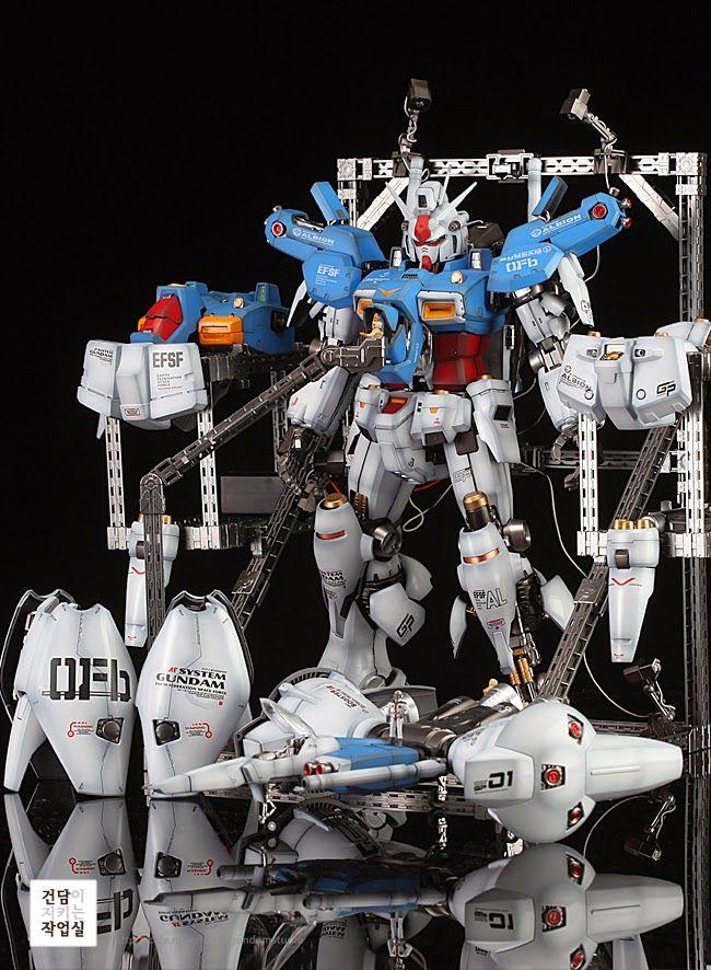 GUNDAM GUY: PG 1/60 RX-78 GP01 Gundam GP01/Fb - Painted Build w/ LEDs