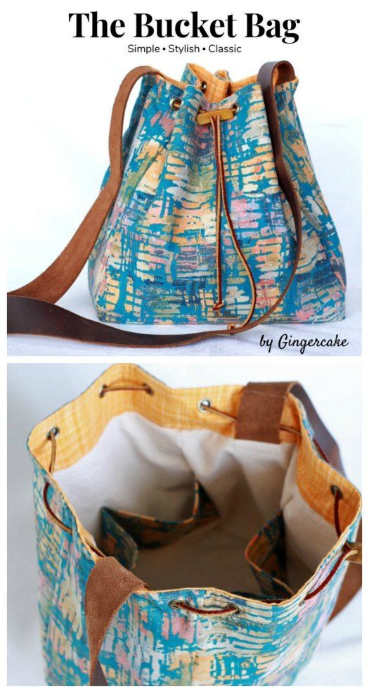 The Bucket Bag Sewing Pattern - Sew Modern Bags