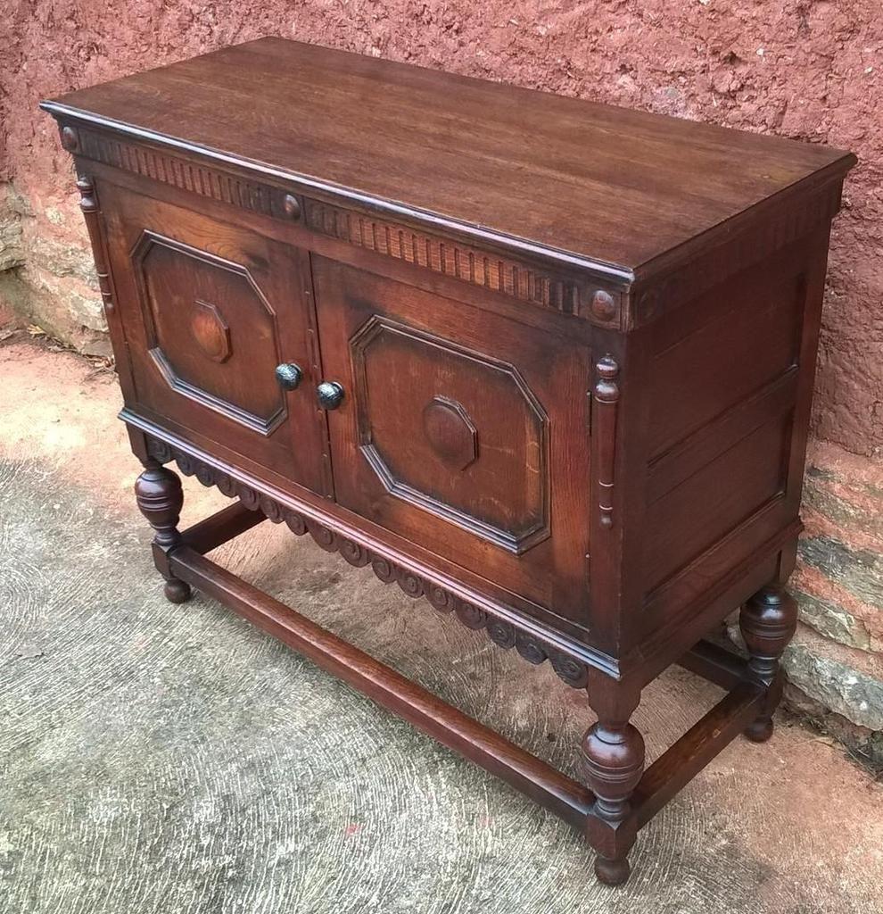 Lovely Vintage Oak Dresser Base / Sideboard / Drinks Cabinet ...