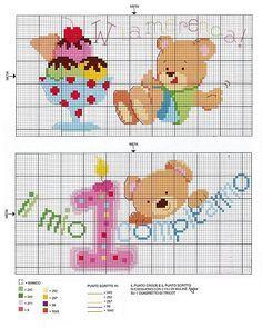Bavaglino primo compleanno 2 punto - Schemi animali stampabili ...