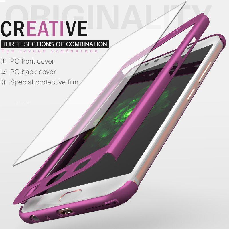 8b971bfa68c comprar Lujo 360 proteger Carcasas para Samsung Galaxy S8 S9 Plus S7 A5 A3  2017 A7 2016 caso de la cubierta para la galaxia s7 borde Nota 8 con vidrio