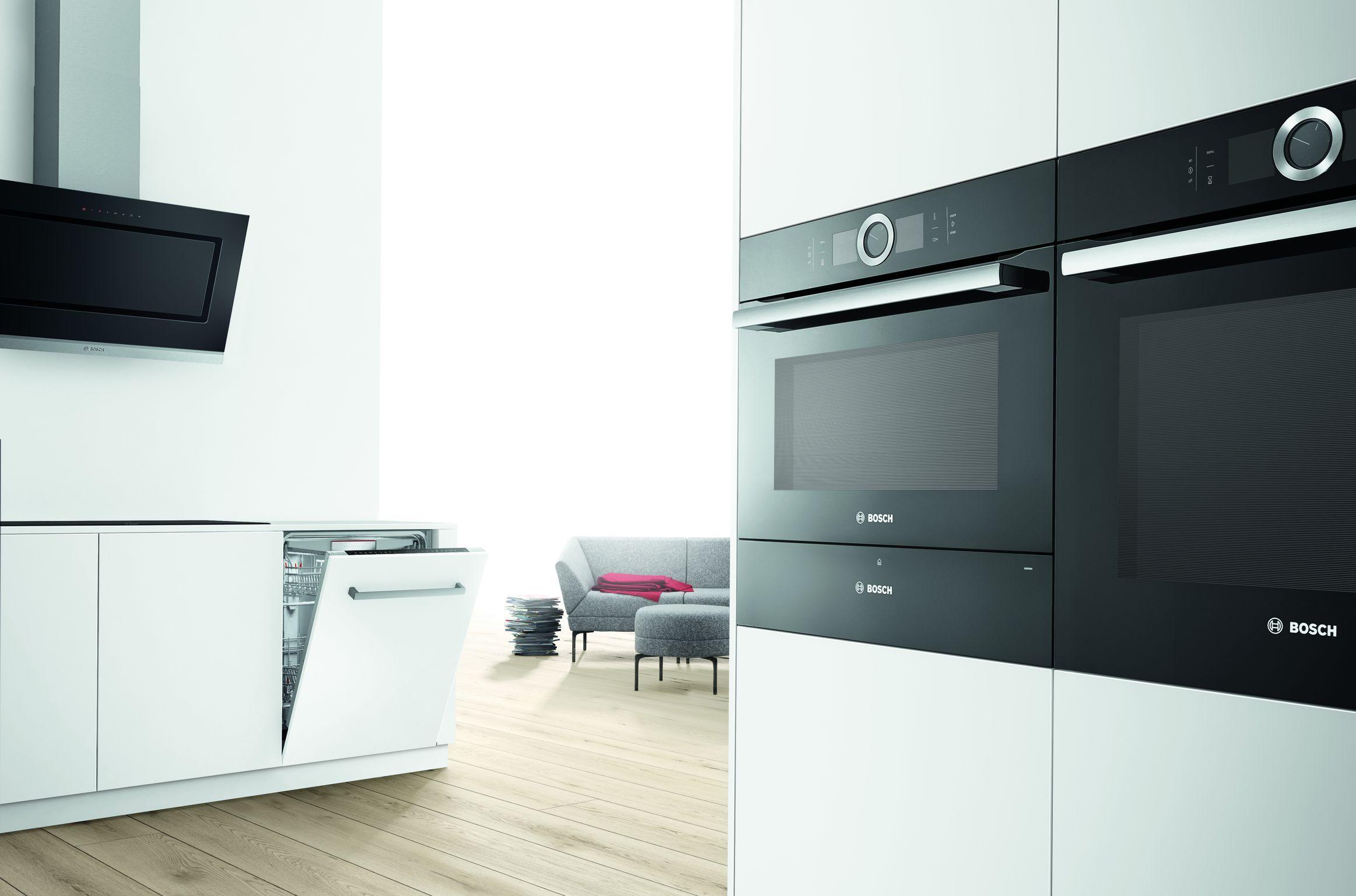 Bosch Serie 8 Schwarz Cooker Hoods Home Appliances Steam Oven
