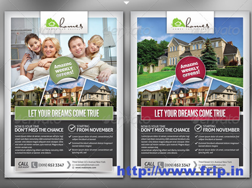 Pro Real Estate Flyer Template  Dtp Ideas    Real