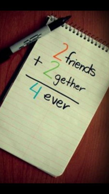 2 friends. 2gether. 4ever ❤   | L❤️ve | Childhood love quotes