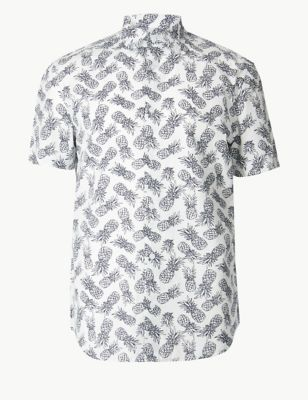 Best Pure Cotton Pineapple Print Shirt With Images Printed 640 x 480
